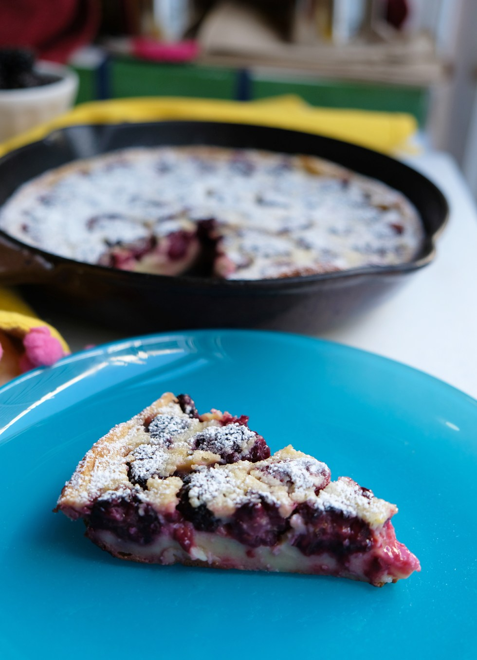 Recipe: Summer Blackberry Clafouti | Shikha la mode