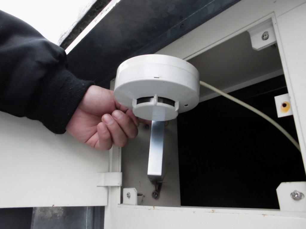 【事例】ELV感知器交換   消防設備保守・施工や電気工事の志木設備メンテナンス