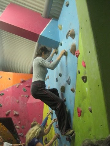 Fliss on the Climbing Wall