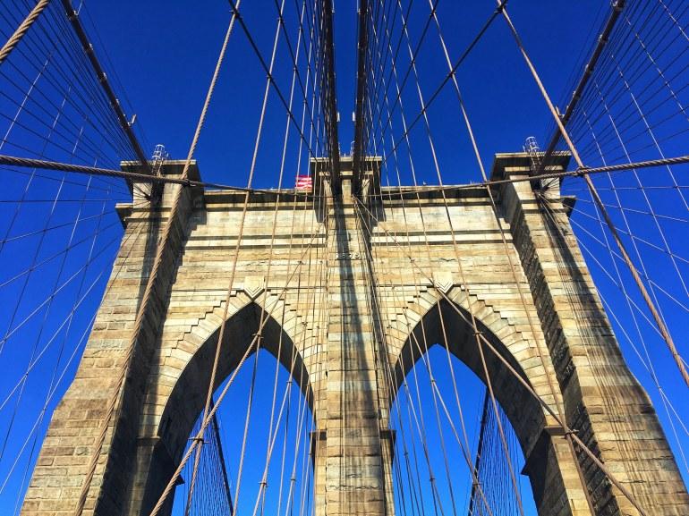 Brooklyn Bridge navigating NYC