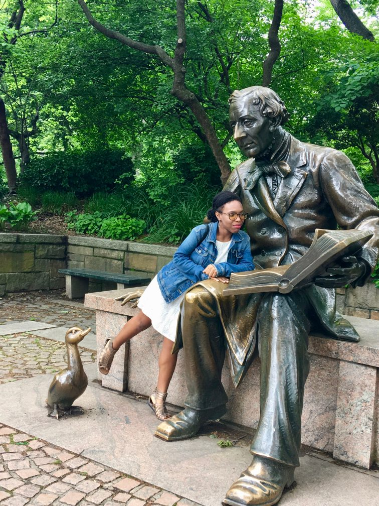 Central Park Hans Christian Andersen Statue shilohinthecity Awkwafina's NYC