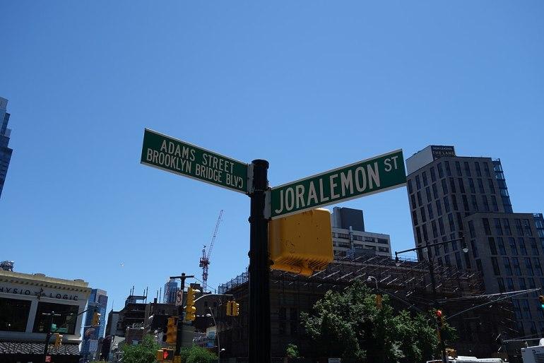 Joralemon street tricky nyc street names