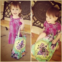 Emmi with her Bushka tote!
