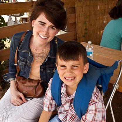 Micah & Abel at Market days!