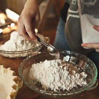 Grace baking!