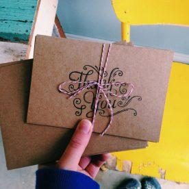 Thank you cards songbirdcardco.com