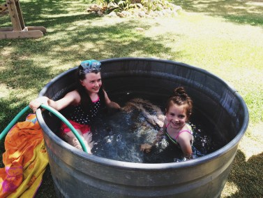 Swimming tub fun on a hot summer day!! :)