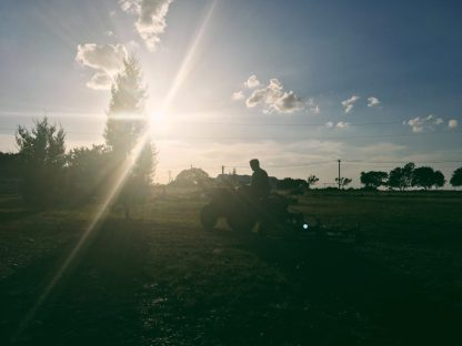 Texas sunset and a Steller Tractor ;)