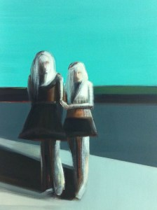 Shilo Ratner, Me and My Girlfriend, 24″x18″, Oil on Canvas.