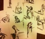 Shilo Ratner Figure Study Sketch