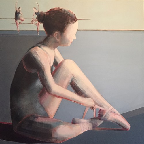 "Rehearsal"", 36"" x36"", Oil on Panel"