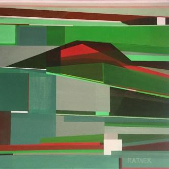 "Littoral No. 326, 20 x 20"", Acrylic on Canvas"