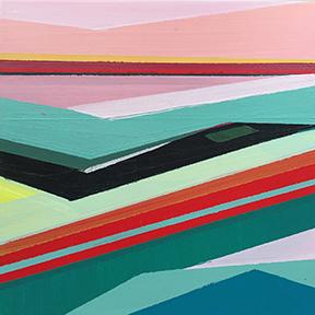 "Introspective, 5 x 5"", Acrylic on Panel"