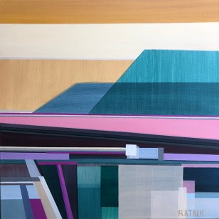 Artist Shilo Ratner, Open Spaces, 20 x 20in