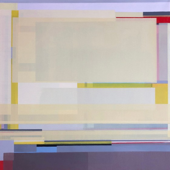 Artist Shilo Ratner, Golden, 20 inches x 20 inches