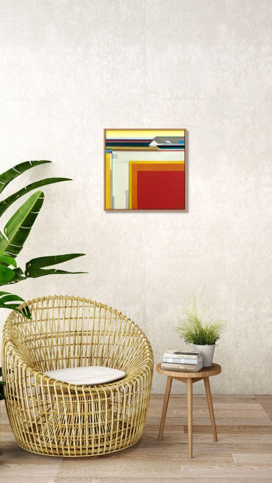 """Artist Shilo Ratner_Desert Rising_20"""" x 20""""_Room View"""