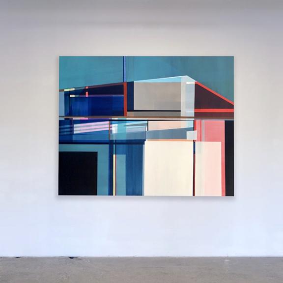"Artist Shilo Ratner ""Hypnotic Awakening"", 48"" x 60"", Acrylic Paint on Canvas"