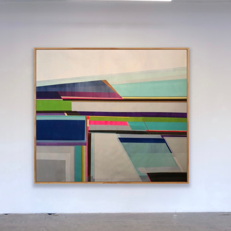 """Artist Shilo Ratner_Centered and Calm_69"""" x 58"""""""