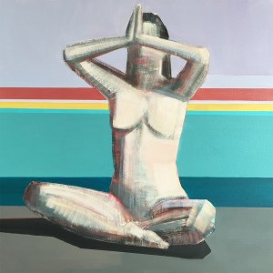 """Artist Shilo Ratner_The Temple Within_36"""" x36"""",  Oil on Canvas"""