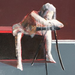 Dancer Resting, Work in Progress, 10inx10in, Oil on Panel