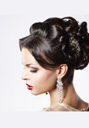 reception hairstyle and indian