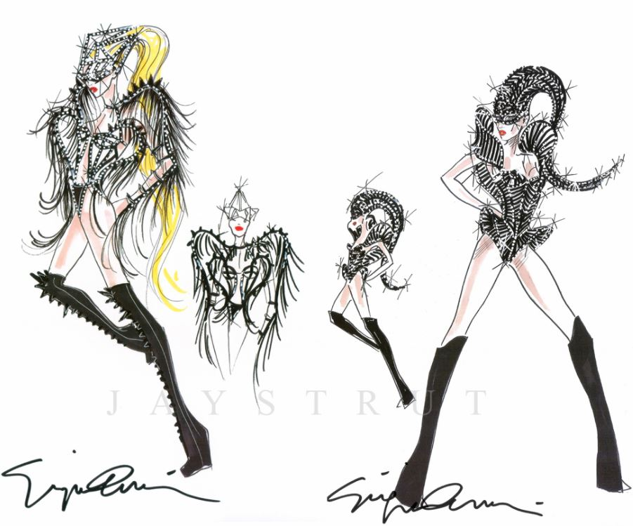 Fashion Design Sketches by World's Top Fashion Designers