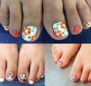 toe nail design pedicure