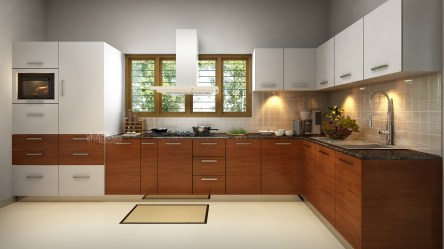kitchen interior designs designing kerala modular interiors shape turn key bedroom premium service decoration wooden packages kitchens package material services