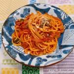 トマトと青じそのスパゲッティ