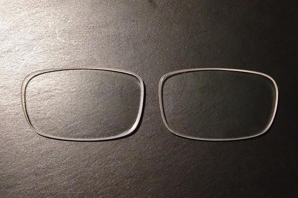 余っていたメガネのレンズ