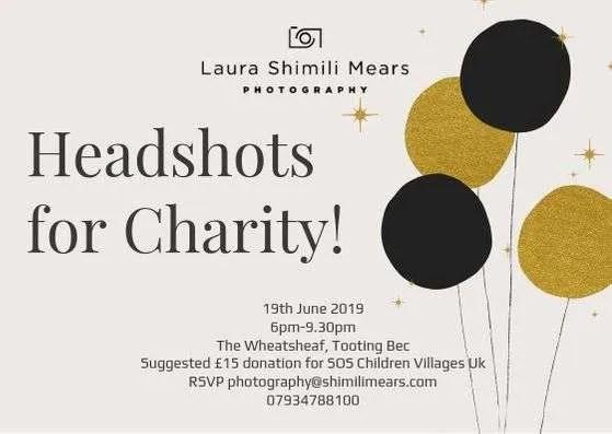 Headshots for charity, London Photographer