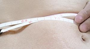 ヌードウェストサイズ測定