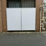 杉並区高円寺北:集合住宅のフェンスに目隠し設置