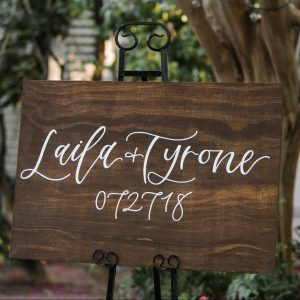 Hand Lettered Welcome Sign