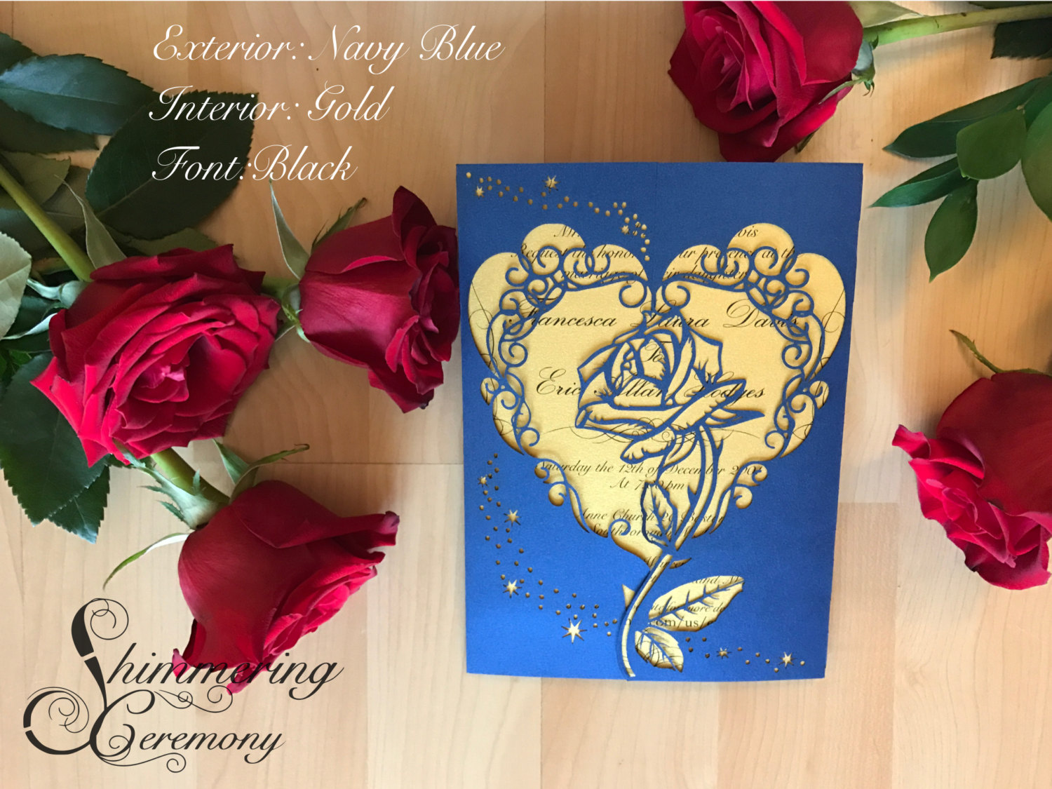 Beauty And The Beast Themed Wedding Invitations: Beauty And The Beast Inspired Rose Gate Invitation