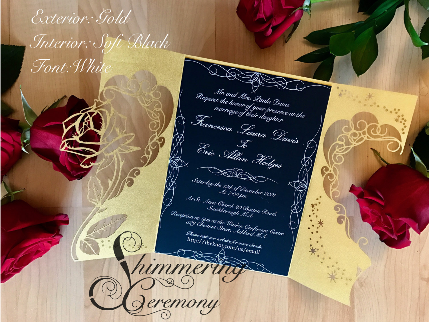 Beauty And The Beast Inspired Rose Gate Invitation