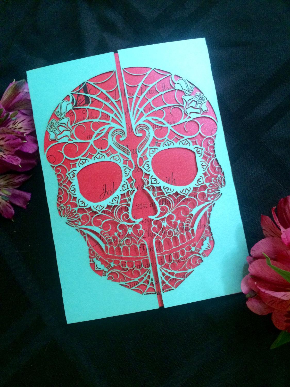 Day of the Dead Skull Gate Invitation  Shimmering Ceremony