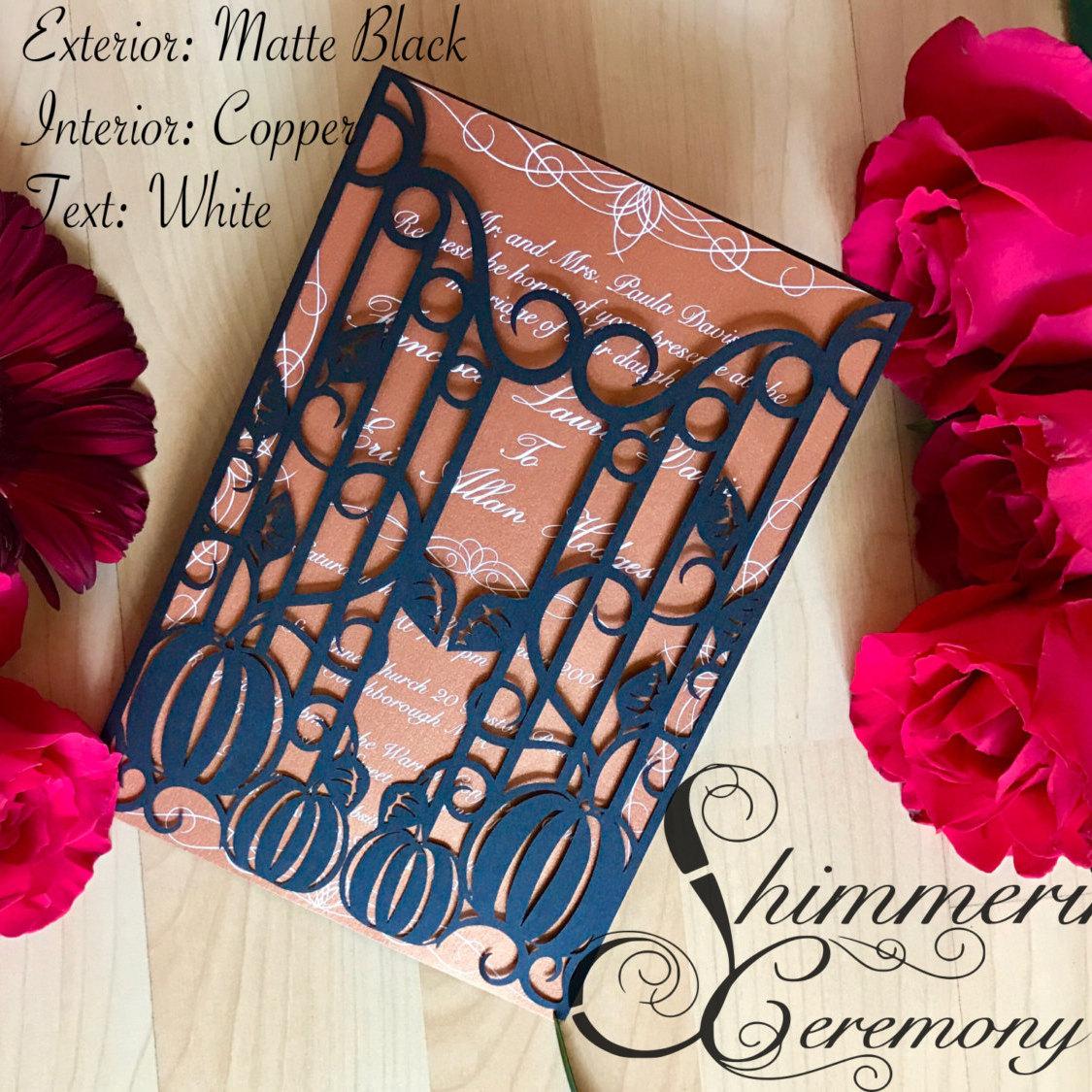 Pumpkin Iron Gate Invitation  Shimmering Ceremony