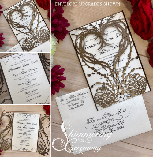 Pinecone Laser Cut Invitation