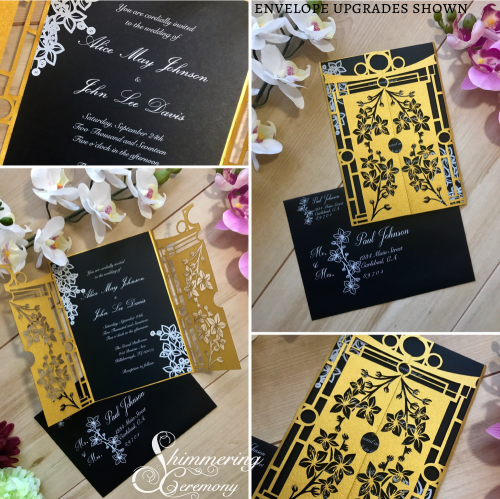 Japanese Laser Cut Invitation