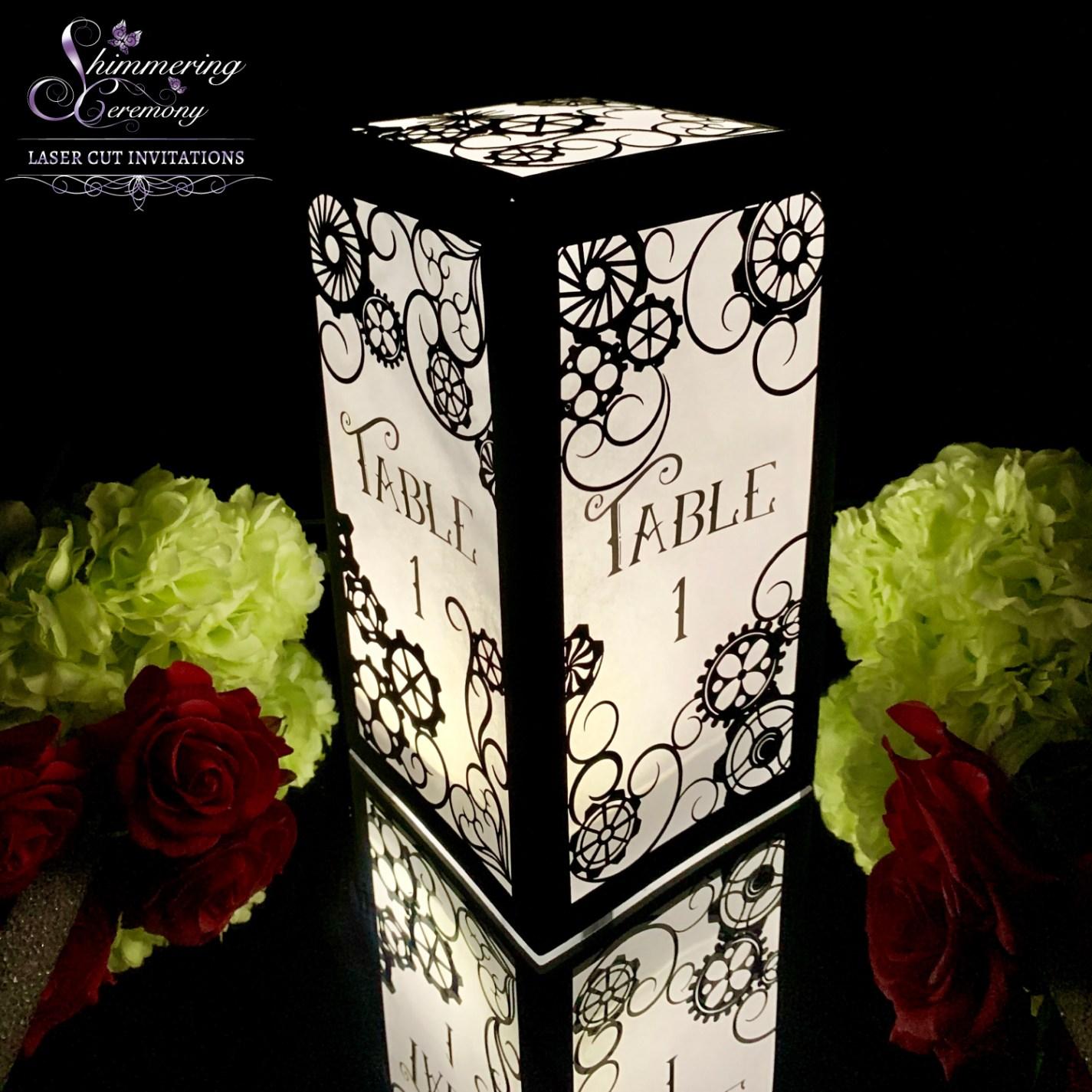 gothic wedding centerpieces steampunk lantern