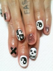 crazy nail art shimmeshine