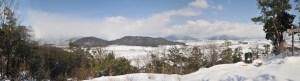 雪の大岩展望台