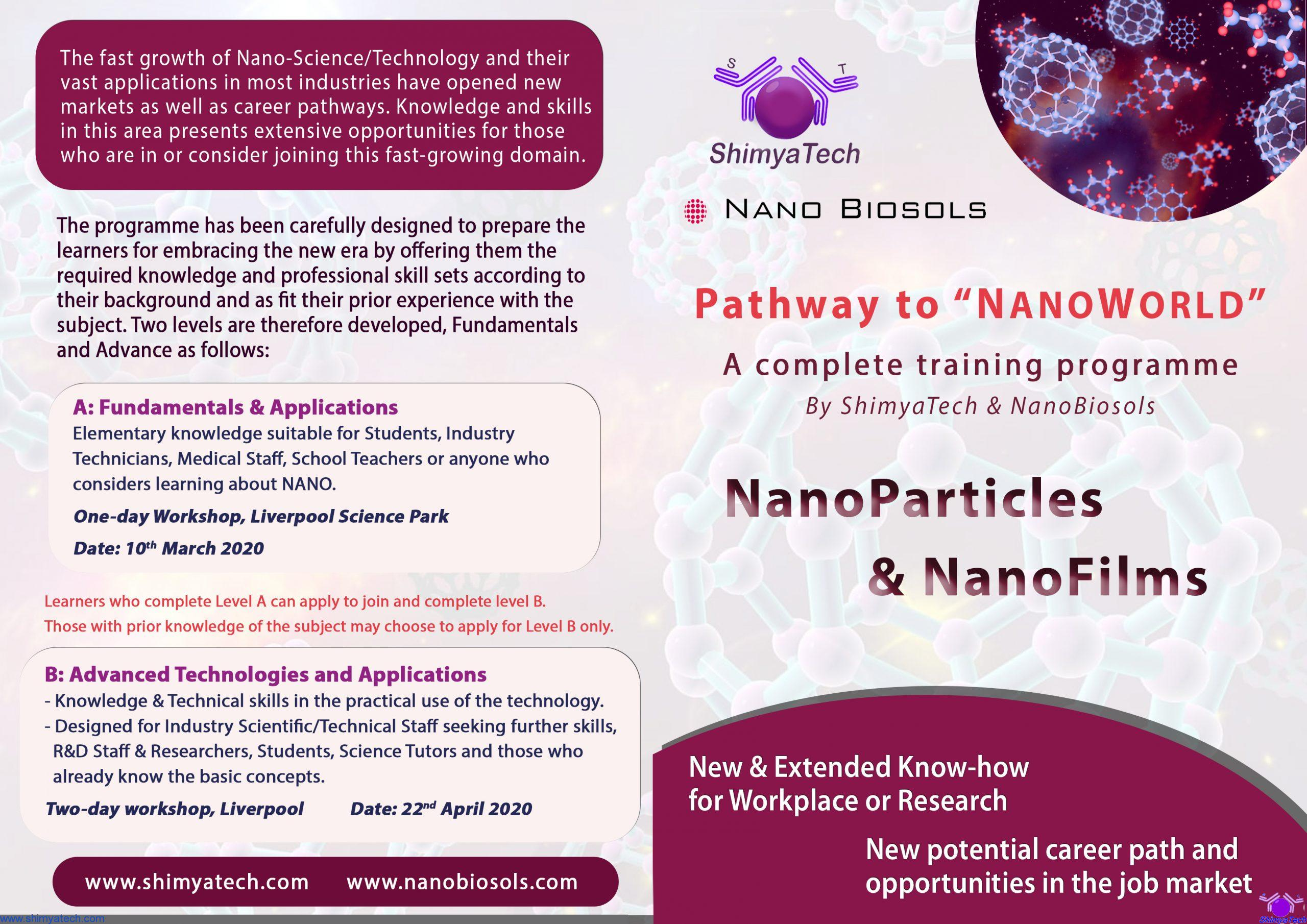 Welcome to NanoWorld - Training Programme - Leaflet1