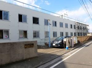 すでに解体工事が始まっている「関東運輸局菊名寮」