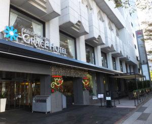 今年2月に初めて新横浜グレイスホテル前の街路樹がライトアップ。この冬はクリスマスや年末年始のシーズンに街を彩ることが決定
