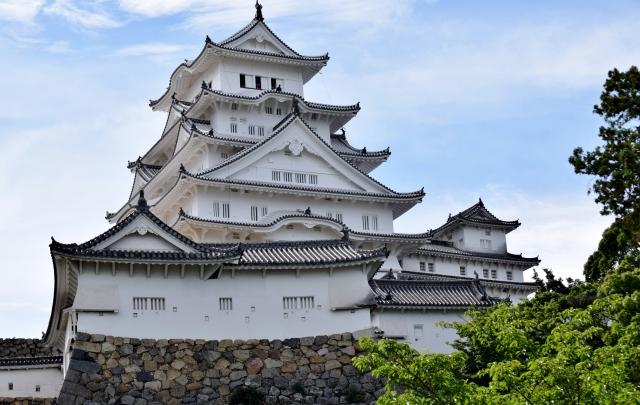 改修工事後の姫路城