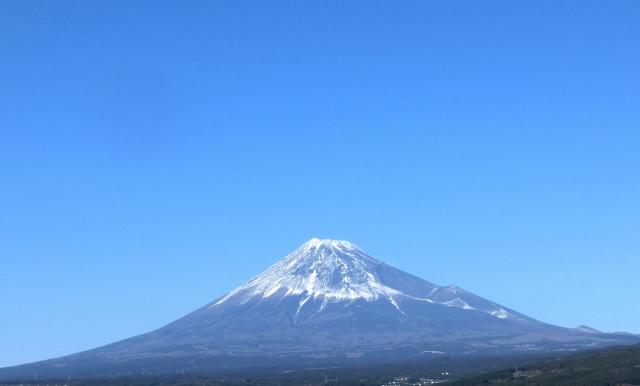 日本晴れと富士山