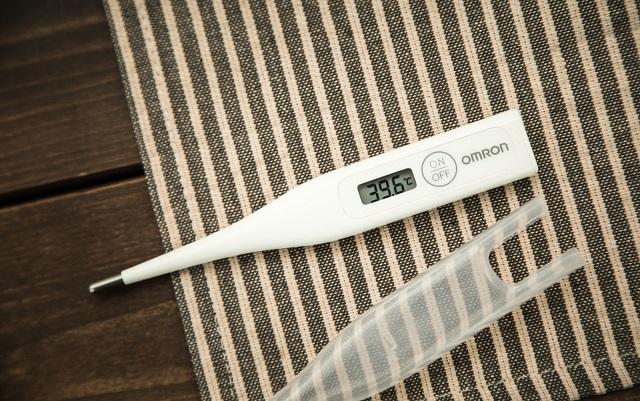 高熱を表示する体温計