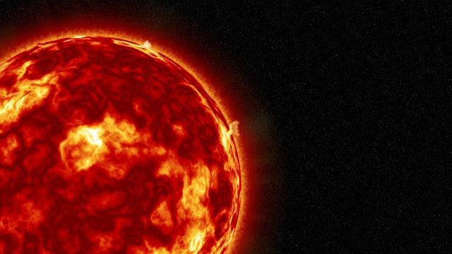 太陽フレアの様子